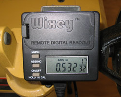 Wixey com - Remote Planer Readout